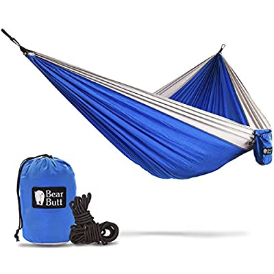 Bear Butt Double Hammock - 16 Colors Available - Going Outdoors Backpacking Camping Or Hiking? Get The Best Lightweight Parachute Hammocks! 2 Year Company On Amazon - The Reviews Say It All from Bear Butt