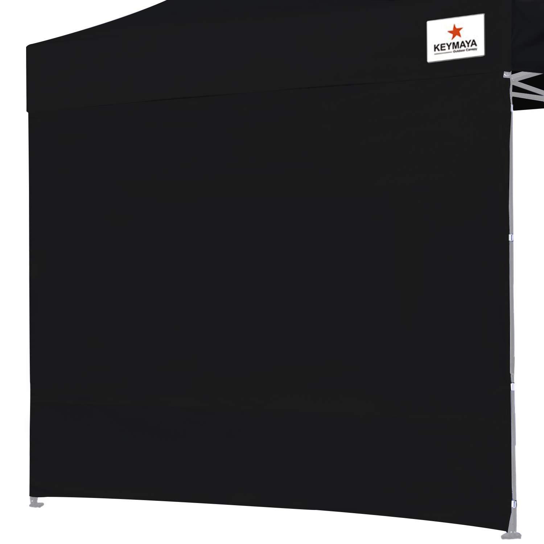 Keymaya Instant Canopy SunWall for 10×10 Feet, 10×20 Feet Straight Leg pop up Canopy, 1 Pack Sidewall Only, Black
