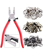 """Swpeet 36 Sets 1"""" 25mm 3 Colors Key Fob Hardware with 1Pcs Key Fob Pliers , Glass Running Pliers Tools with Jaws, Studio Running Pliers Attach Rubber Tips Perfect for Key Fob Hardware Install"""