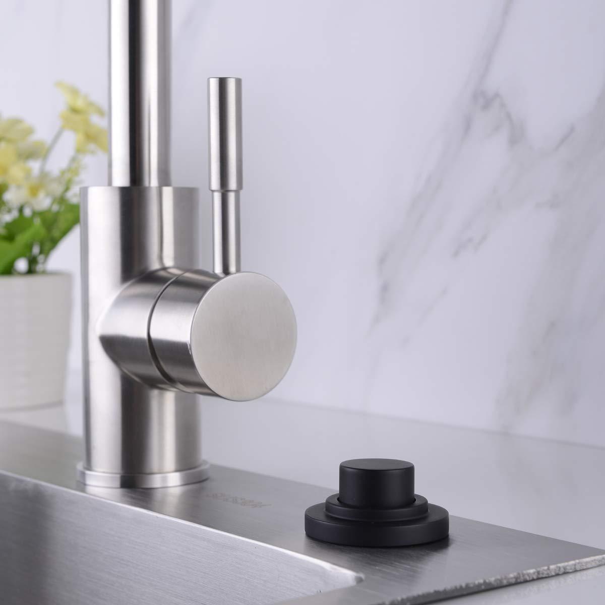 SINKINGDOM SinkTop Air Switch Kit (Full Brass) for Garbage Disposal, Cordless (Matte Black) by SINKINGDOM (Image #6)