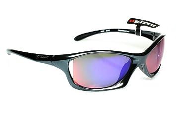 ccbec43420d Sundog Zone - Professional Quality Golf Sport Sunglasses with TR90 Black  Gloss Frame and Mirror Revo Lens ...