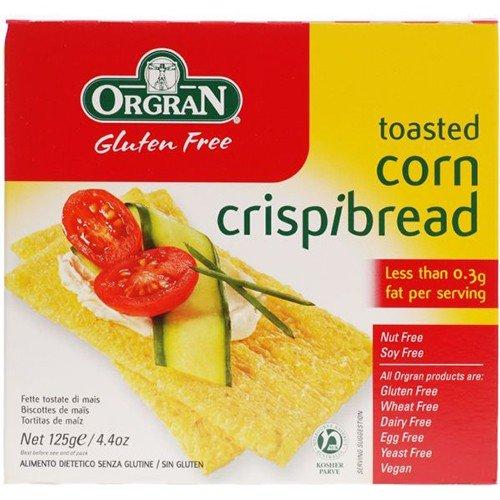 (4 PACK) - Orgran - Toasted Corn Crispbread | 125g | 4 PACK BUNDLE