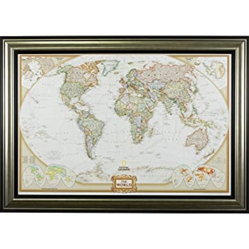 Antique World Map in a Pastel Color Scheme Wall26 Framed Art Prints 16x24