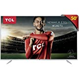"Smart TV LED 50"" Ultra HD 4K HDR com Wifi integrado 3 HDMI 2 USB, TCL, 50P6US, Prata"