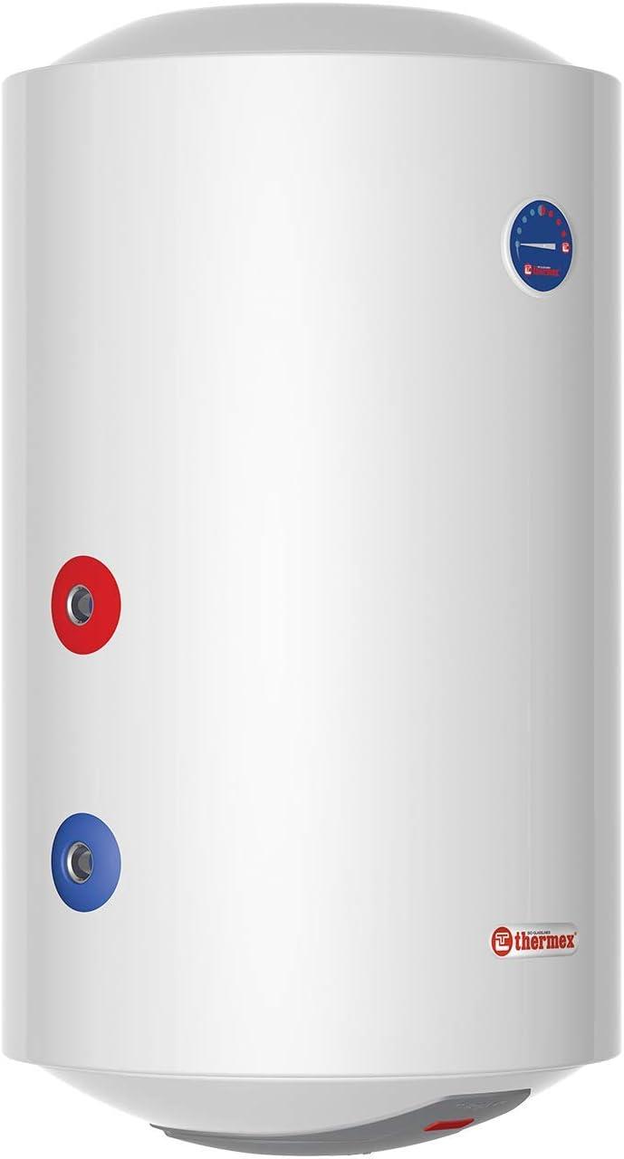 Thermex Combi ER 80 V Links, calentador de agua eléctrico con intercambiador de calor integrado. ER80V Combi 230V Blanco