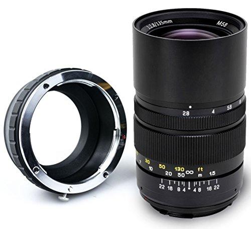 Oshiro 135mm f/2.8 LD UNC AL Telephoto Full Frame Prime Lens for Sony NEX E-Mount a6500, a6300, a6000, a5100, a5000, NEX-7, NEX-6, 5T, 5N, 5R, 3N Digital Mirrorless Cameras -  OSH135MM28NEX
