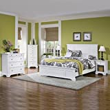 #8: Home Styles 5530-5014 Naples Queen Bed, Night Stand and Chest, White Finish