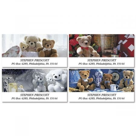 Teddy Bear Magic Personalized Return Address Labels- Set of 144, Large Self-Adhesive, Flat-Sheet Labels, By Colorful Images