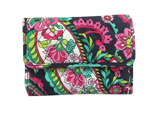 Vera Bradley Euro Wallet Clutch Purse Handbag in Petal Paisley