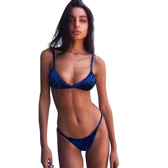 Bikinis Mujer,Dragon868 2018 Terciopelo de Dos Piezas Bikini Traje de baño para Las niñas