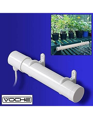 Calentador Tooltime portátil para invernadero, con cable, enchufe, pinzas y fijaciones