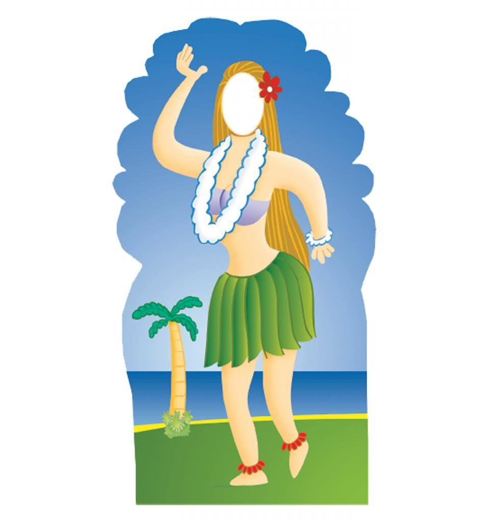 Hula Girl Stand-In - Advanced Graphics Life Size Cardboard Standup