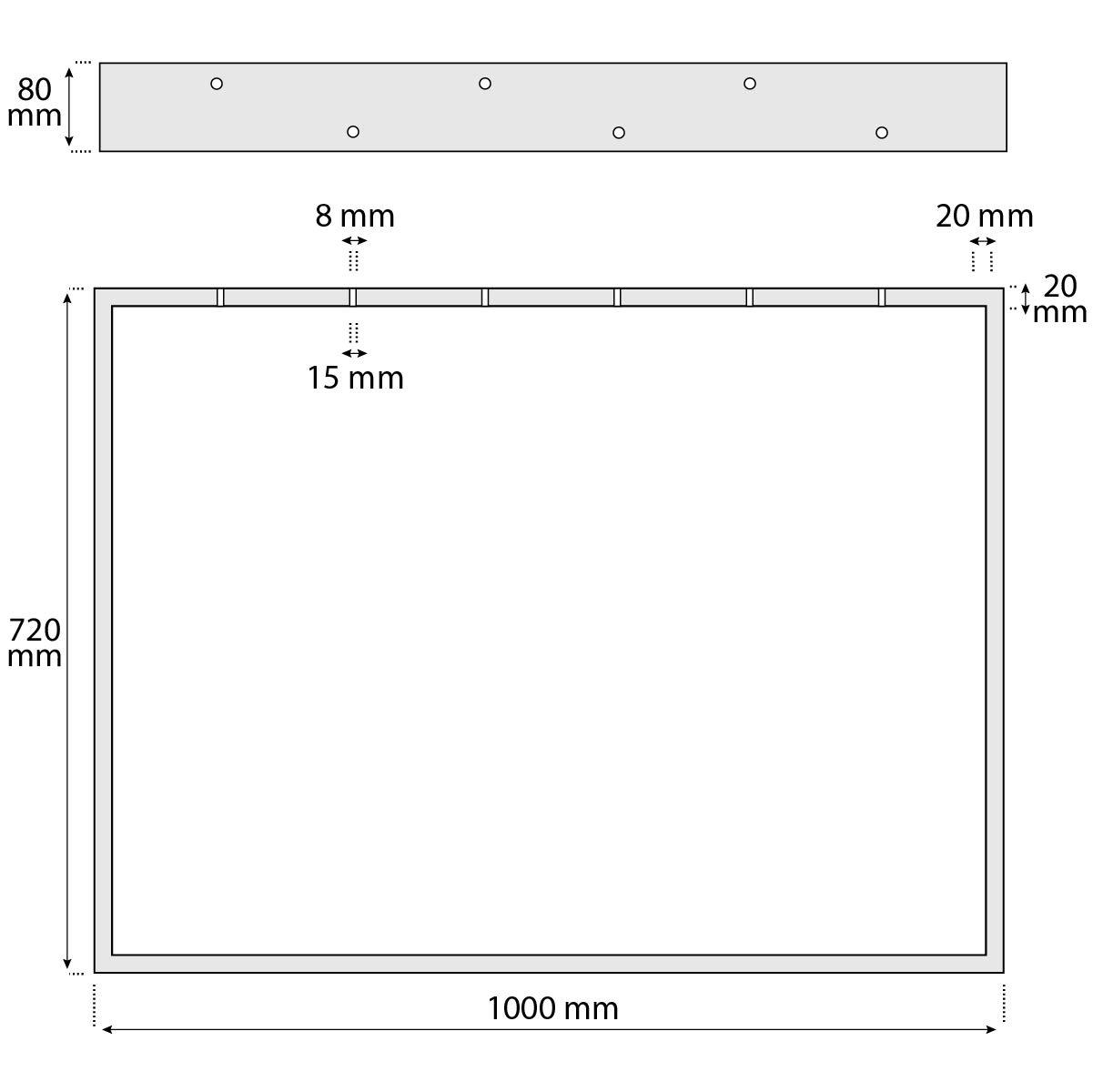 HLT-01-C-DD-7016 HOLZBRINK Patas de Mesa perfiles de acero 80x20 mm forma de marco 70x72 cm 1 Pieza Gris Antracita