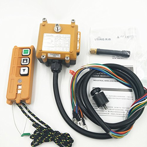 Industrial Wireless Remote Control F21-2D AC/DC 65V-440V (1 Transmitter + 1 Receiver) Hoist Crane with Double Speed Button