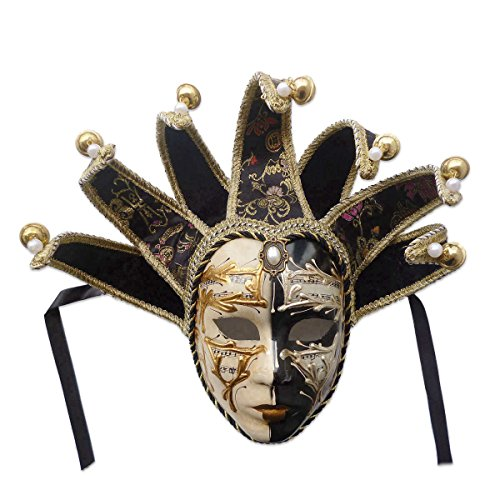 Volto Resin Music Jester Venetian Masquerade Decorative Wall Mask