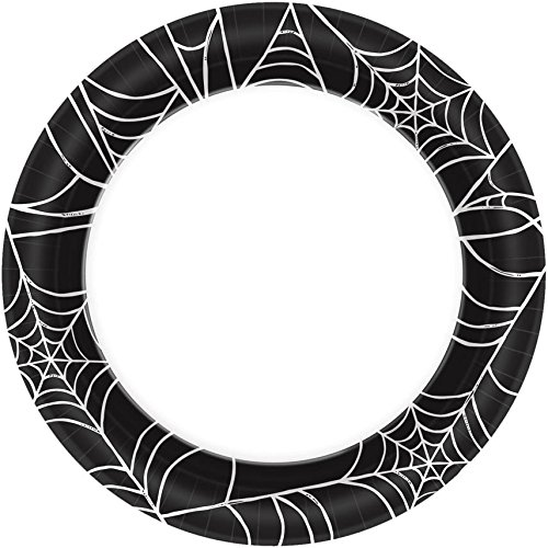 (Halloween~Spider Web Paper Plate~40)