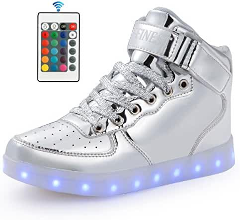 AFFINEST Adult LED Light Up Shoes High Top Fashion Sneakers For Men Women