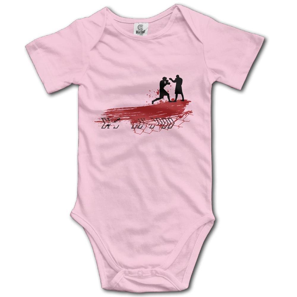 Jaylon Baby Climbing Clothes Romper Boxing Logo Design Infant Playsuit Bodysuit Creeper Onesies Pink