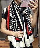 Nwn Printed Scarf Female Winter Soft Wool Thin Shawl Dual Purpose