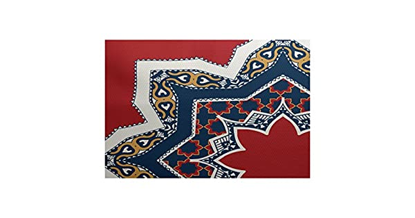 3 x 5 Geometric Print Indoor//Outdoor Rug E by design RGN729RE2-35 Rising Star Red