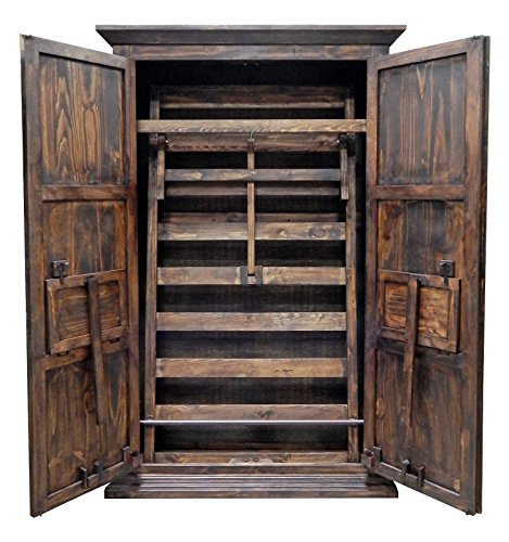 Mexican Pine Armoire (Coastline Solid Wood Fully Assembled Full Size Dark Stain Murphy Hideaway Bed (Full, Dark))