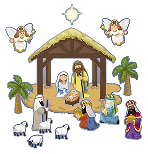 Make Your Own Christmas Nativity Scene Sticker Sheets,