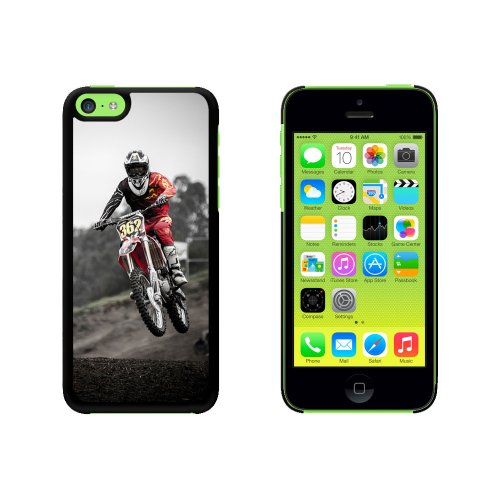 Graphics and More Dirt Bike Off Road Racing Snap On Hard Protective Case for Apple iPhone 5C - Black (Dirt Graphic)