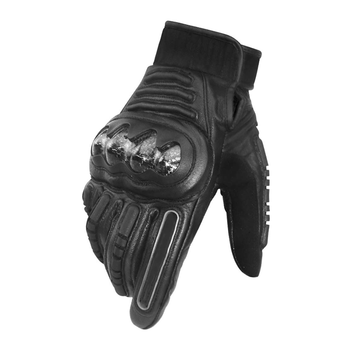 noir L LQUYY Les Hommes De l'hiver en Plein Air Sports Gants en Cuir à écran Tactile Résistant à l'usure des Gants étanches à Froid