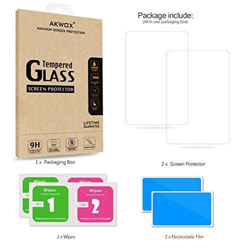 (Paquete de 2) Protector de pantalla para PS Vita 1000, Akwox Premium HD Clear 9H Película protectora de pantalla de vidrio templado para Sony PlayStation Vita PSV 1000-Max Claridad y precisión de tacto Película