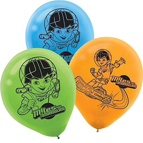 Tomorrowland Costume Ideas (Amscan Stellar Miles from Tomorrowland Printed Latex Balloons (6 Piece), Blue, Orange, Green)