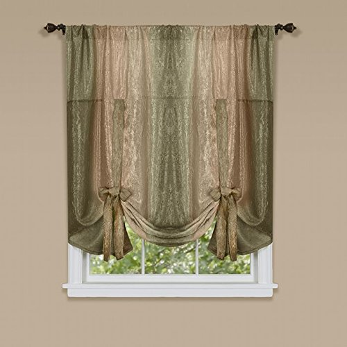 Park Avenue Collection Ombre Tie Up Shade 50x63 - - Shades Park Avenue