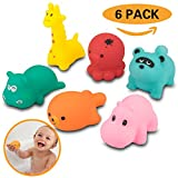 Donier Bath Toys, 6 Pack Baby Bath Toys Little Sea Animals Squirts Fun Bath Toys Floating Bath Toy, Assorted Colors