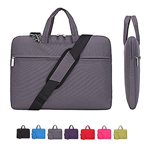 15Inch Notebook Laptop Handbag Canvas Business Shoulder Bag (Pink) - 1