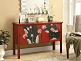 Coaster Home Furnishings Console Table, Red