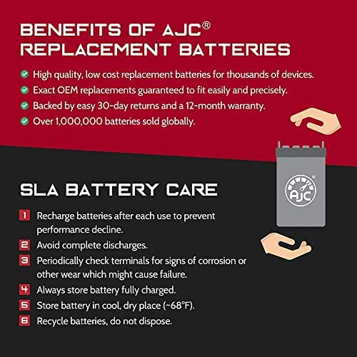 This is an AJC Brand Replacement APC 200DL 6V 4.5Ah UPS Battery