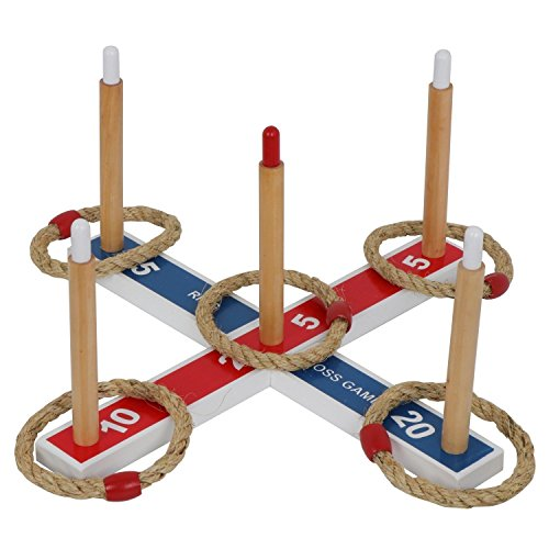 TG888 Wooden Ring Toss Game Vintage Style Set for Camping Carnival Outdoor Lawn Party Yard from TG888Warehouse