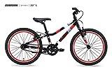 Guardian Bikes Company Ethos Safer Patented SureStop Brake System 20' Kids Bike, Black/Red