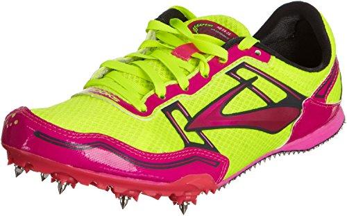 Brooks Womens PR MD 54.26 Track Spikes Pink GlowNightlife Anthracite 6 M D Pink GlowNightlife Anthracite