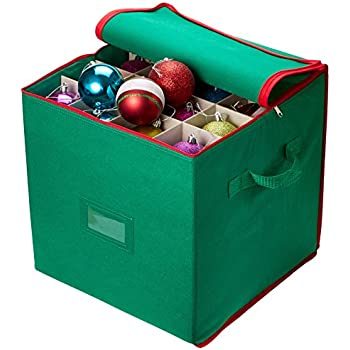 Wonderful Christmas Ornament Storage   Stores Up To 64 Holiday Ornaments, Adjustable  Dividers, Zippered Closure