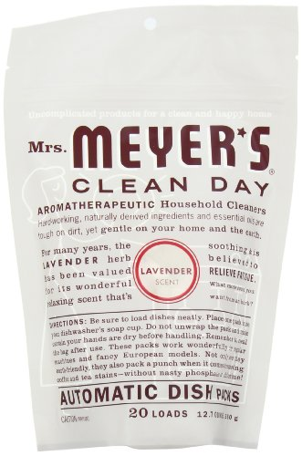 Mrs. Meyer's Clean Day Automatic Dish Packs, Lavender, 20 ct (Pack of 6)