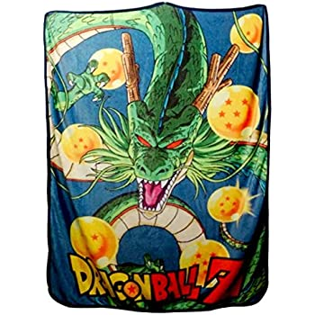Blue and Orange Just Funky Dragon Ball Z Bed Comforter Featuring Goku Dual Tone Color Full//Queen Size