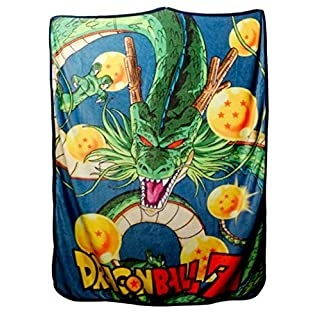JUST FUNKY Dragon Ball Z Blanket, Shenron Coral Fleece Bed Blanket, 45 x 60 inches