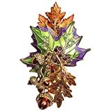 Fall Foliage Leaf & Acorn for Autumn Multicolor Enamel Pin/Pendant (Goldtone) Ritzy Couture Theme Party Jewelry for Women