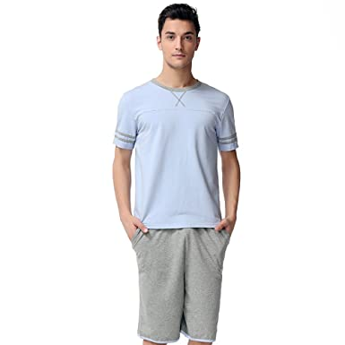 07753b289 Men's Modal Cotton Sleepwear Short homeclothing Nightwear Set ...