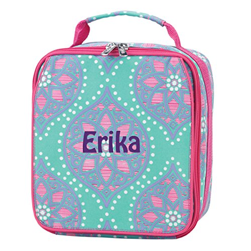 School Insulated Lunch Bag Camp Daycare (Personalized, Marlee Moroccan Tile)