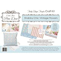 Debbi Moore Home Decor Transfer Craft Kit Shabby Chic Vintage Flowers & CD320585