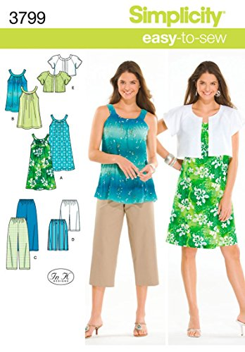 - Simplicity Easy To Sew Women's Dress, Tunic, Cropped Pants, City Shorts, and Jacket Sewing Patterns, Sizes XXS-M
