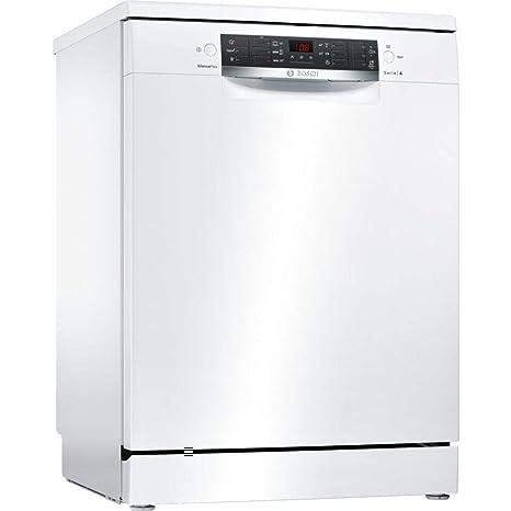 Bosch Serie 4 SMS46MW08E lavavajilla Independiente 14 cubiertos A++ - Lavavajillas (Independiente, Tamaño completo (60 cm), Blanco, Blanco, Botones, ...