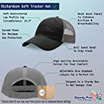Richardson Trucker Mesh Hat Dog Border Collie Lifeline A Embroidery Hat One Size 6
