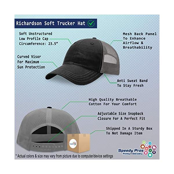 Richardson Trucker Mesh Hat Dog Border Collie Lifeline A Embroidery Hat One Size 2